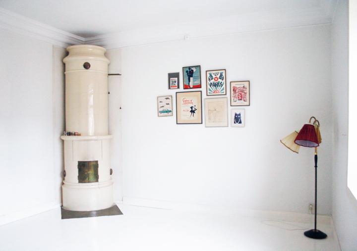 emmas vintage inredning apartment  white floor