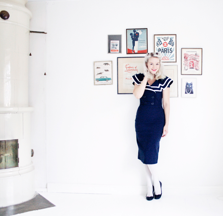 emmas vintage sailor dress