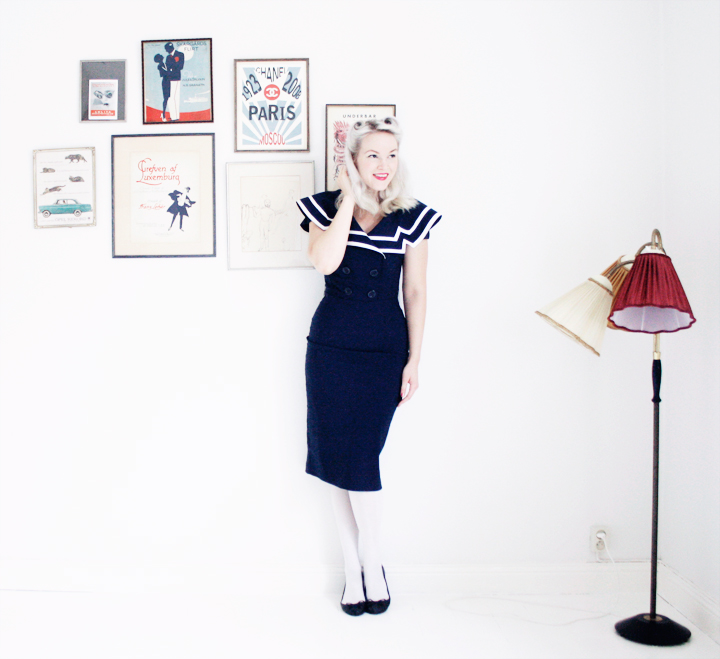emmas vintage sailor dress vardagsrum