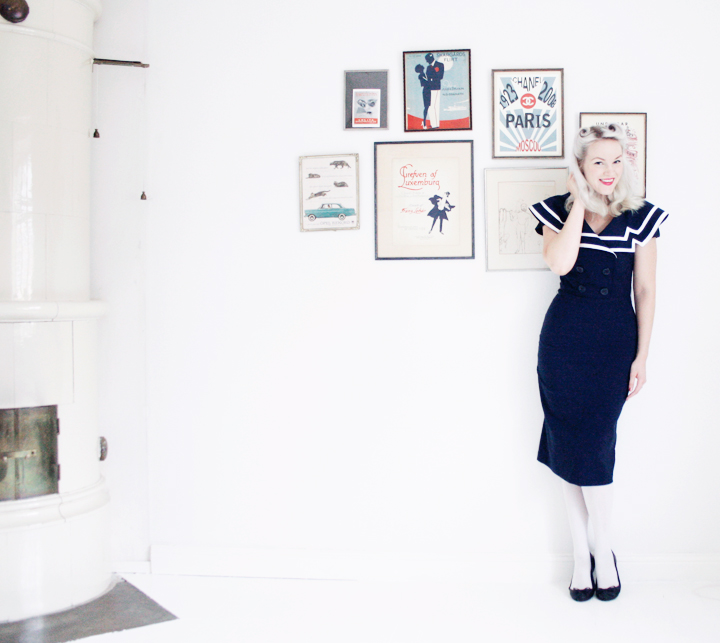 emmas vintage sailor dress white floor