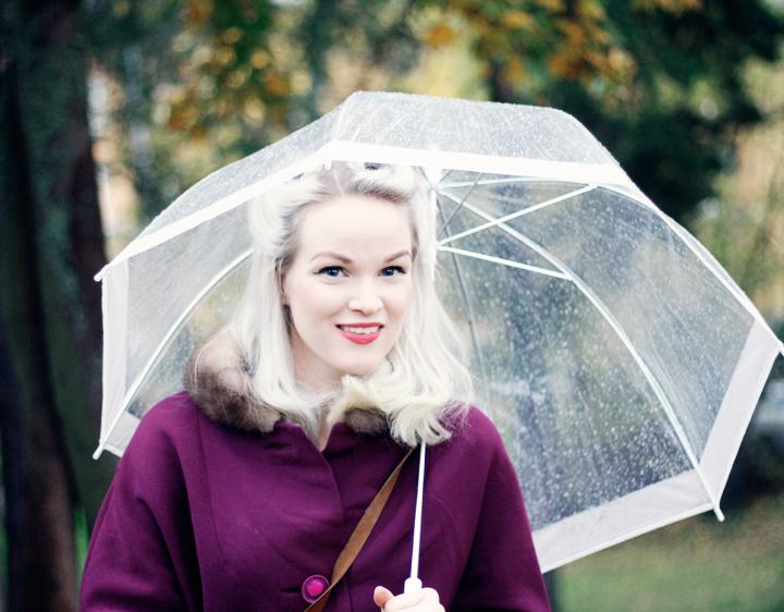 emmas vintage höstkappa paraply regn