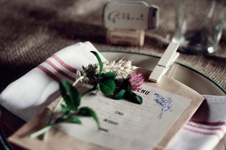 rustik romantisk dukning