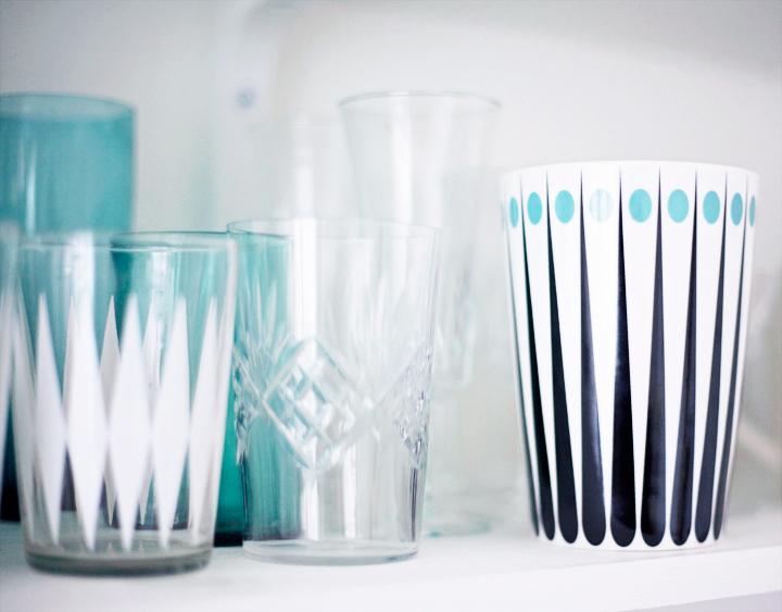 kopp retro emmas vintage inredning kök glas