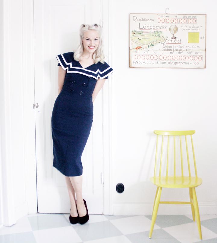 sjömansklänning emmas vintage