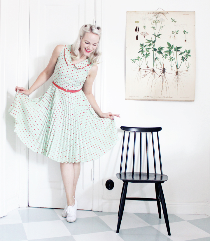 emmas vintage prickig klänning