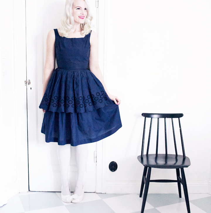 vintage dress vintageklänning tidens melodi