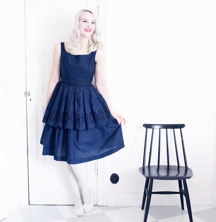 vintage dress klänning tidens melodi