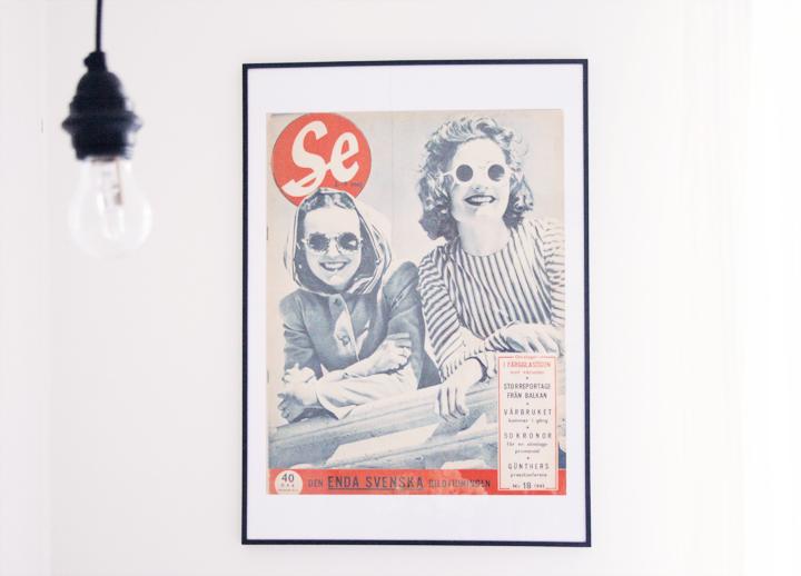 tidningen se emmas vintage tavla inredning