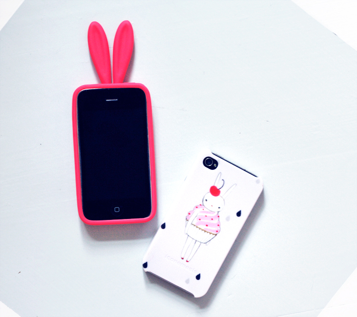 rabbit iphone case by emmas vintage