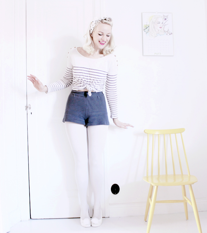 shorts randig emmas vintage sjal