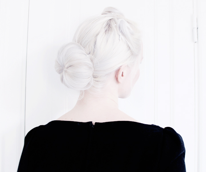hårmunk frisyr emmas vintage dress