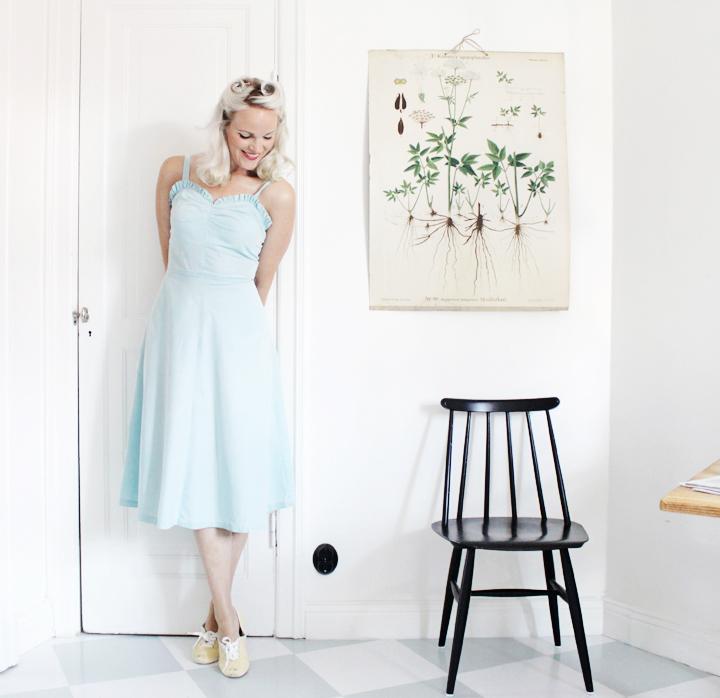 mint dress by emmas vintage