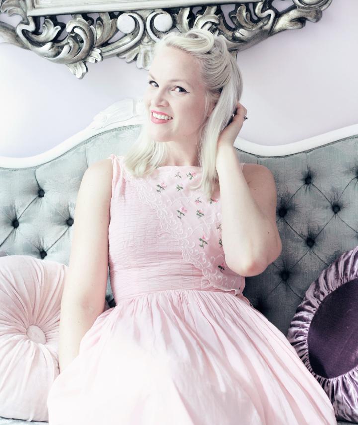 pink vintage dress by emmas vintage