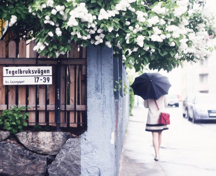 paraply midsommarkransen by emmasvintage