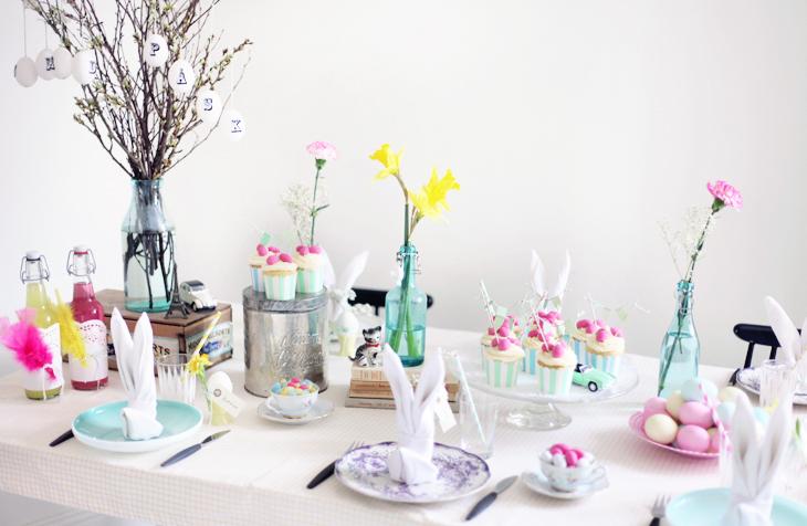 påsk dukning bunny servetter by emmas vintage