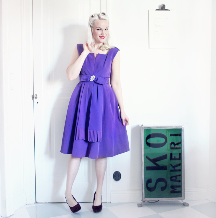 purple vintage dress by emmas vintage