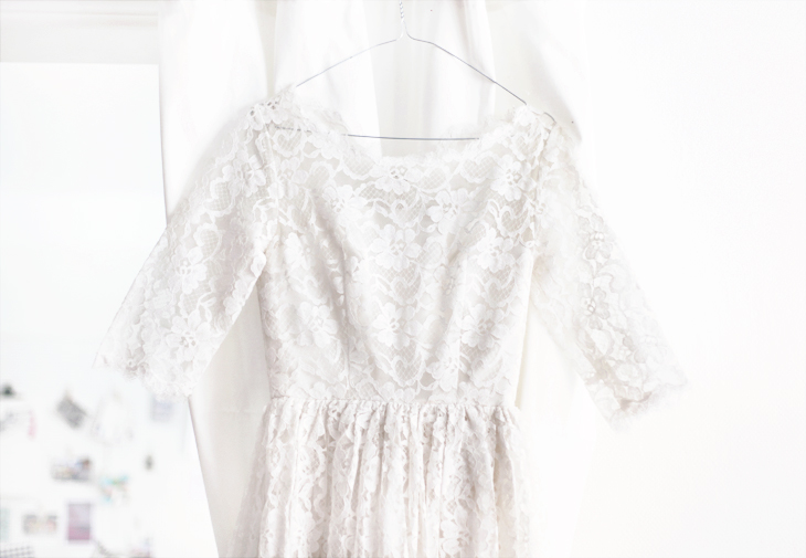 wedding dress by emmas vintage