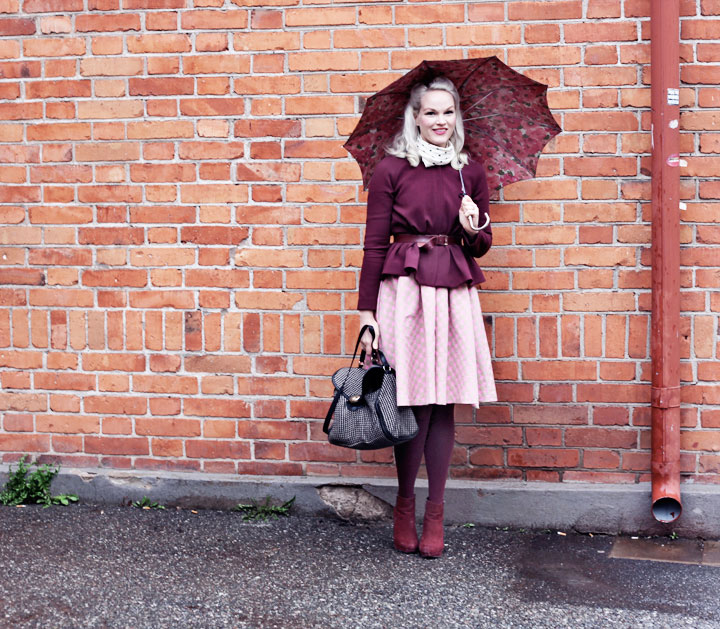 maria westerlind dress umbrella bag by emmas vintage