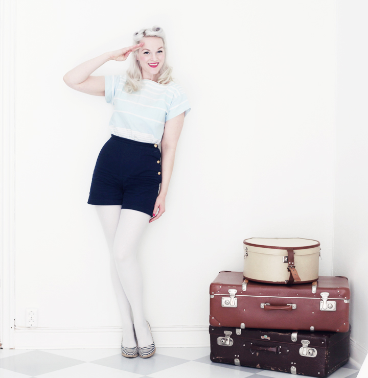 sailor shorts marint mode by emmas vintage