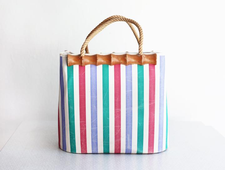 randig väska by emmas vintage