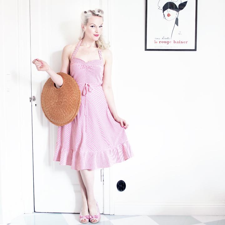 randig klänning marc jacobs by emmas vintage