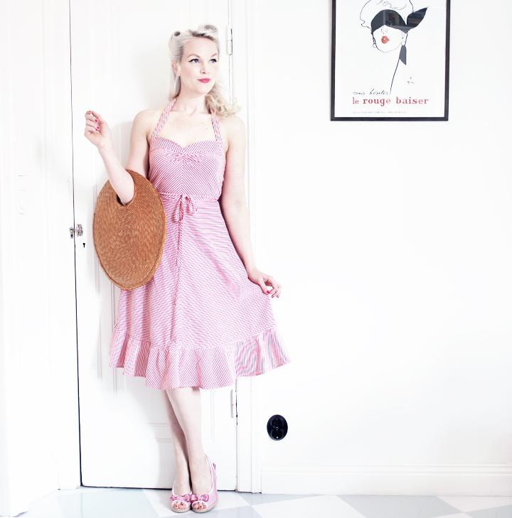 randig klänning dress marc jacobs by emmas vintage