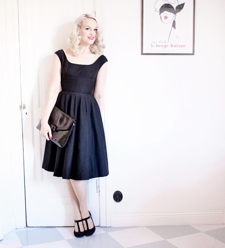 black vintage dress by emmas vintage