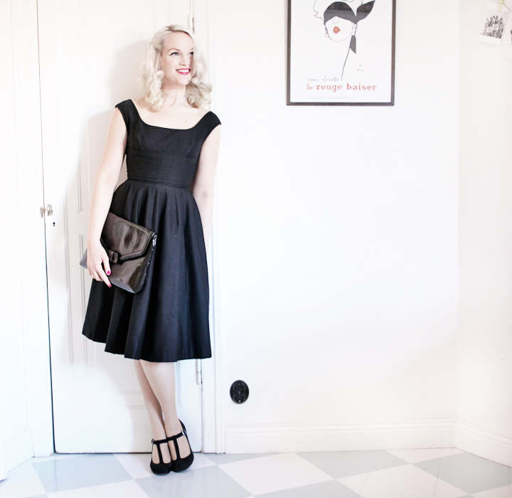 black dress by emmas vintage