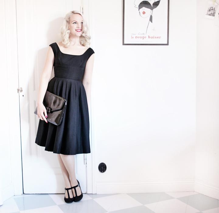 black dress by emmas vintage