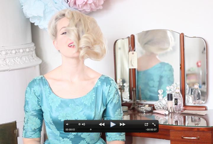 vintage hair style snurror by emmas vintage