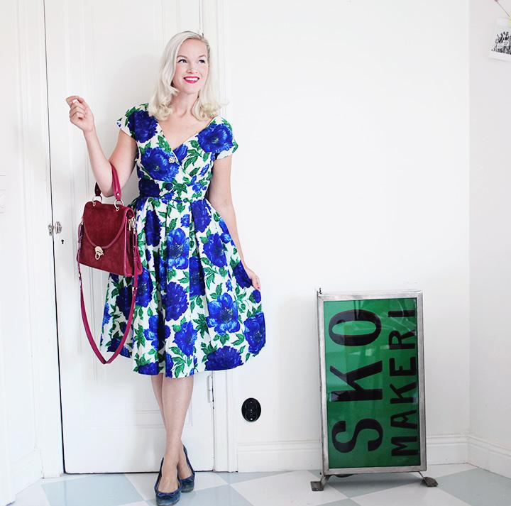 blommig vintageklänning by emmas vintage