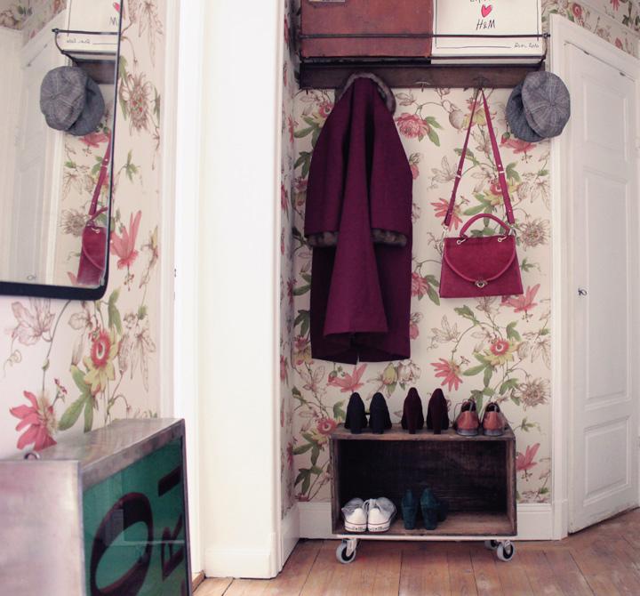 hall inredning hatthylla by emmas vintage