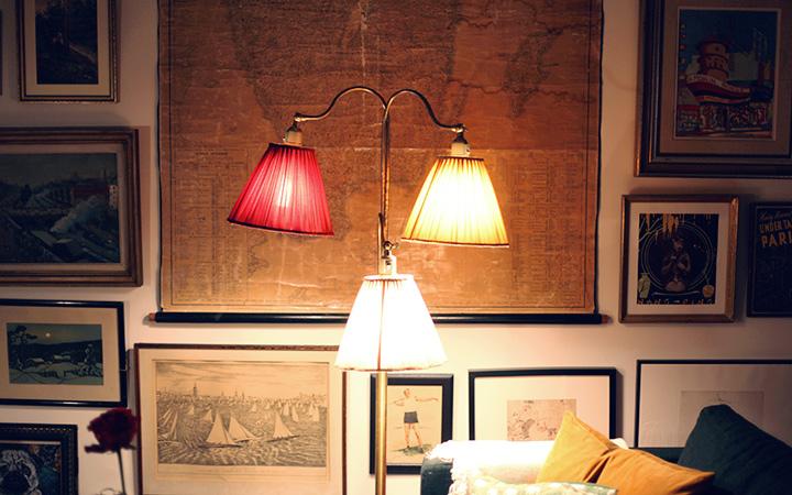 trearmad golvlampa by emmas vintage
