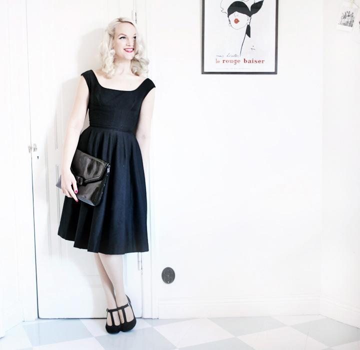 svart klänning by emmas vintage