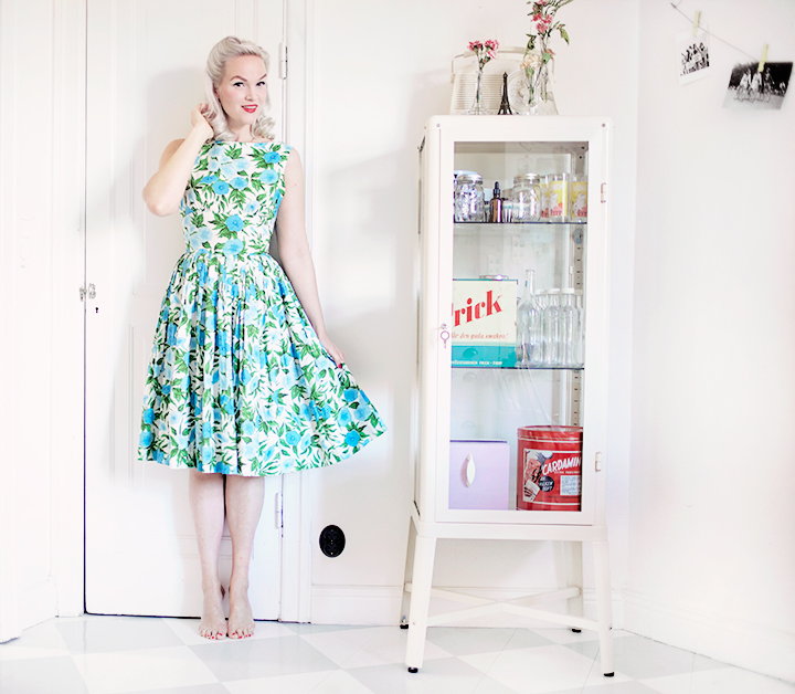 grön klänning by emmas vintage