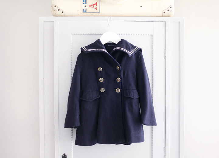 barnkläder sailor kappa by emmas vintage