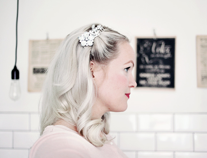 hårspänne frisyr by emmas vintage
