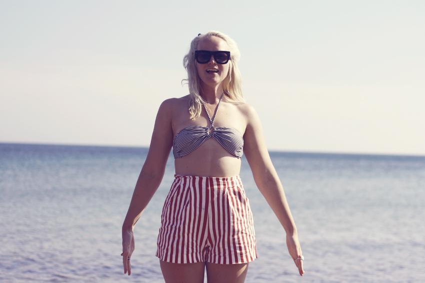 Gotland randiga shorts by emmas vintage