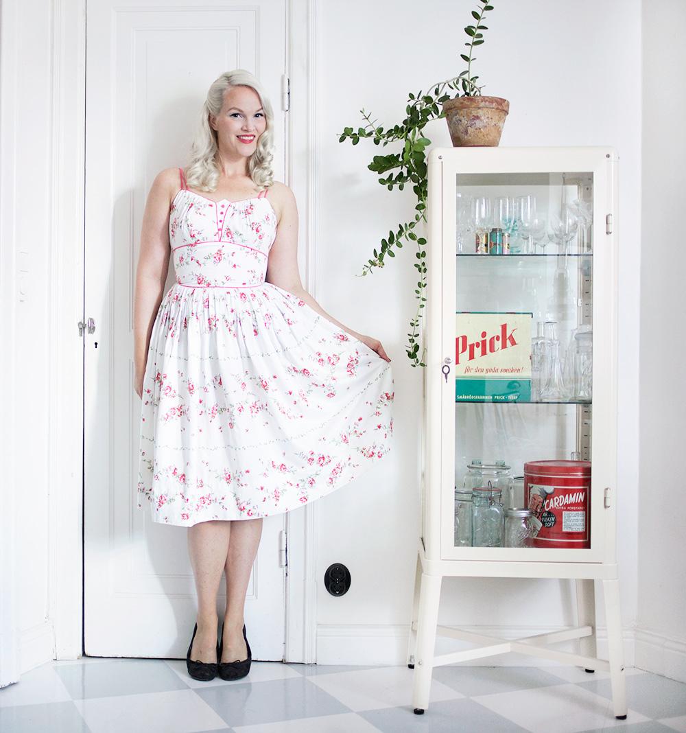 blommig klänning dress beyond retro emmasvintage vintage