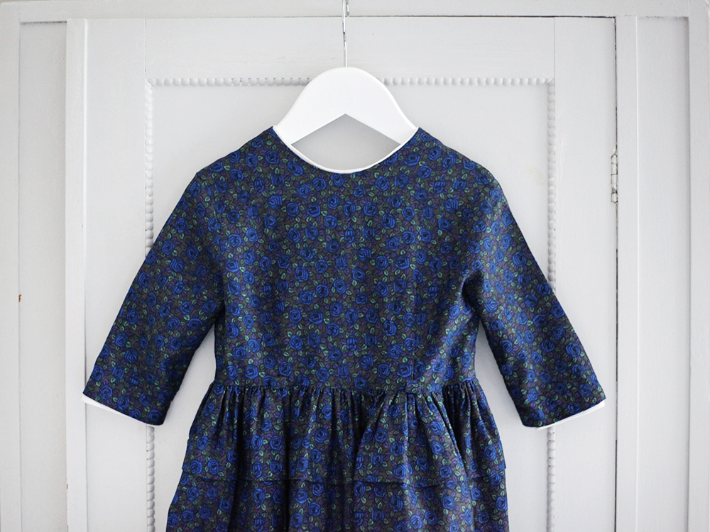 vintage baby dress blue emmasvintage