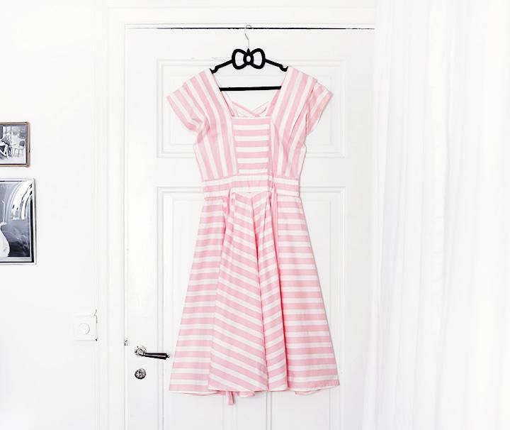 randig klänning vintage vintageklänning beyond retro