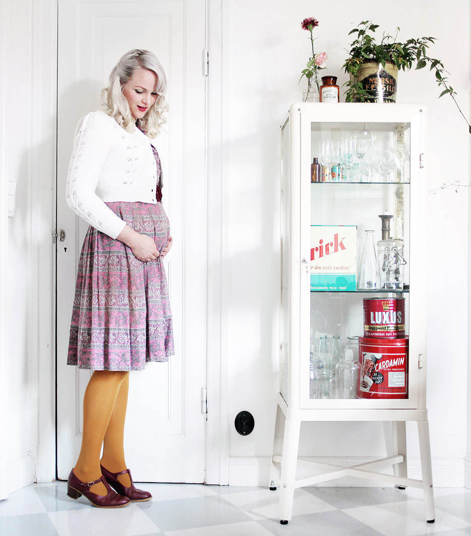 gravid vecka 12 gravidmage vänta barn vintage gravidkläder