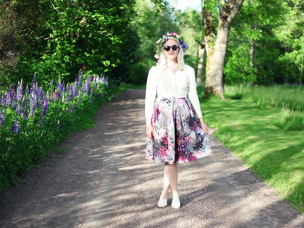 blommig klänning Värmland midsommar