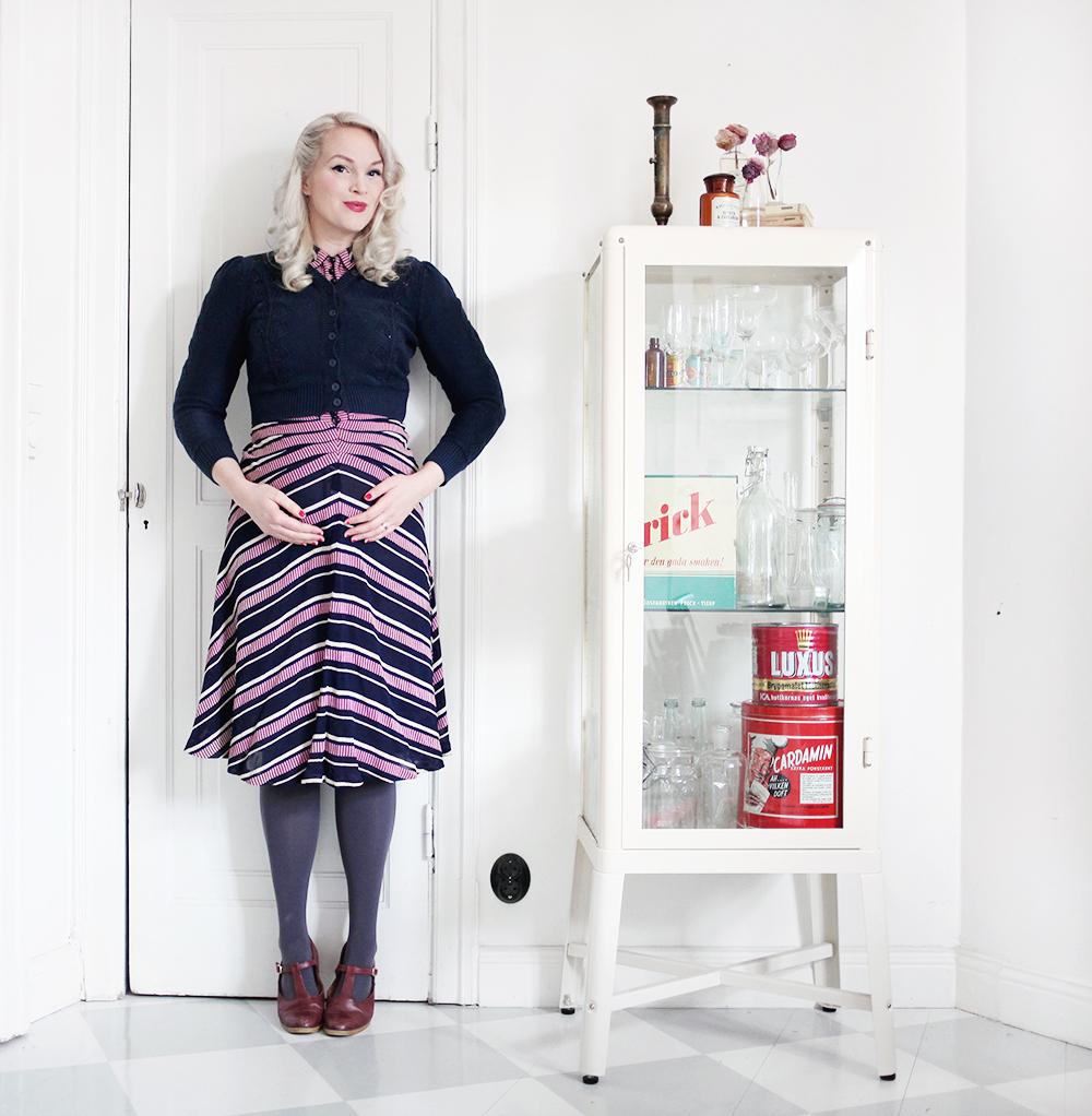 40 dress pregnant gravid gravidmage vecka 19 kofta