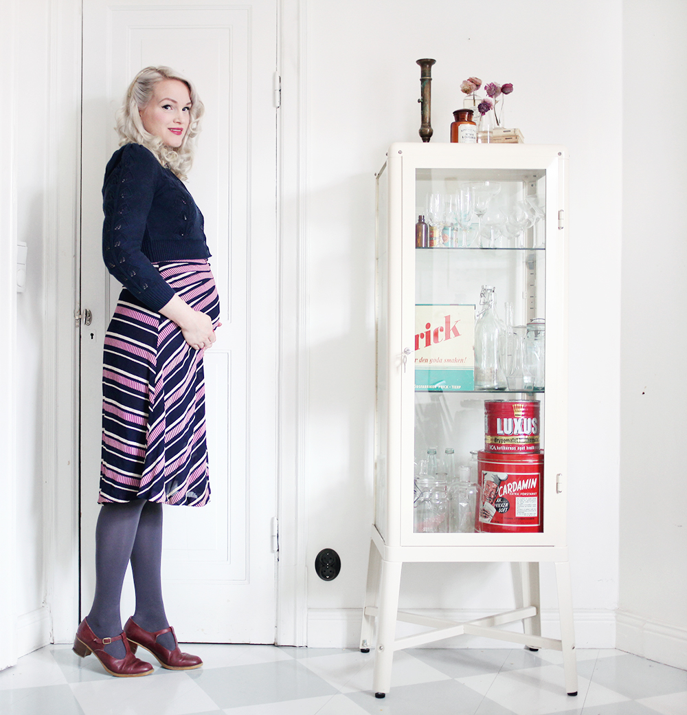 gravid gravidmage  vecka 19 pregnant vintage style