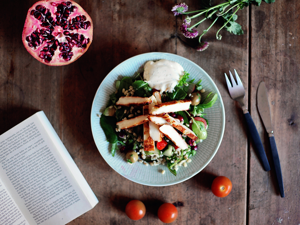 halloumisallad vegetarisk mat recept