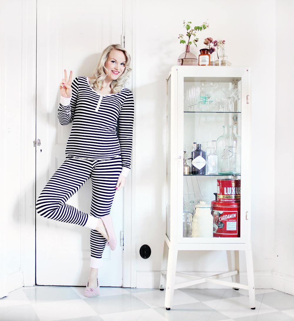 gravid pyjamas gravidmage vecka 24 gravidkläder H&M