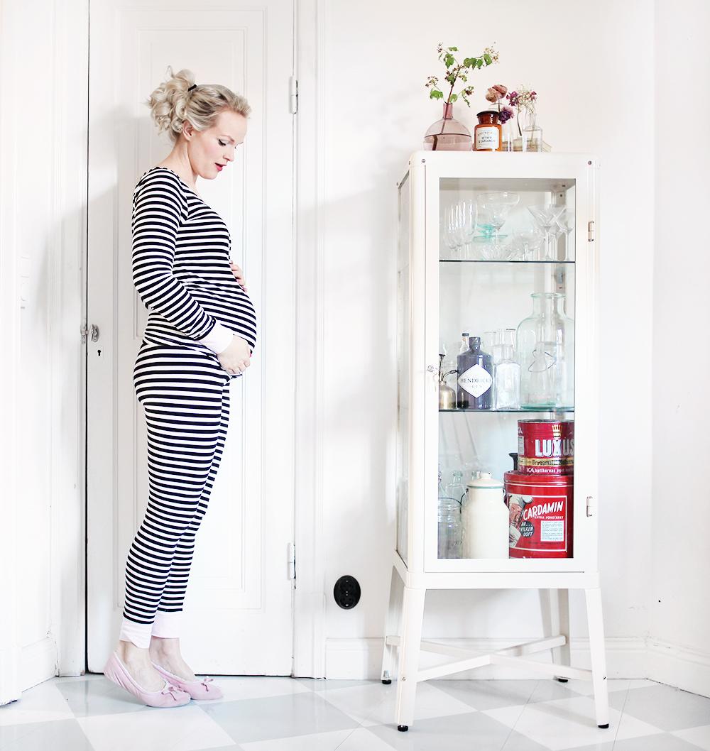 gravid pyjamas gravidmage vecka 24