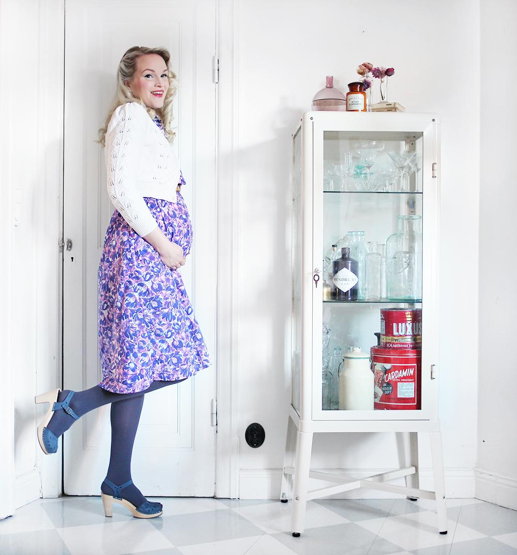 pregnant gravid vecka 25 gravidklänning klänning gravidkläder kofta