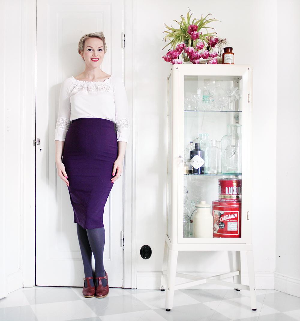 gravidkläder pennkjol spetstopp vintage gravidmage vecka 26